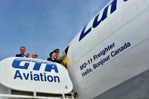 GTA Aviation Lufthansa Plane Dedication Photo by Stephen Uhraney